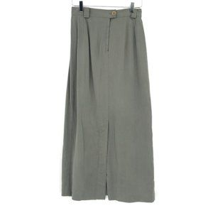 Banana Republic Army Olive Green Maxi Skirt